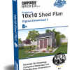 CH Pro 10x10 Shed Plan HACKPack™